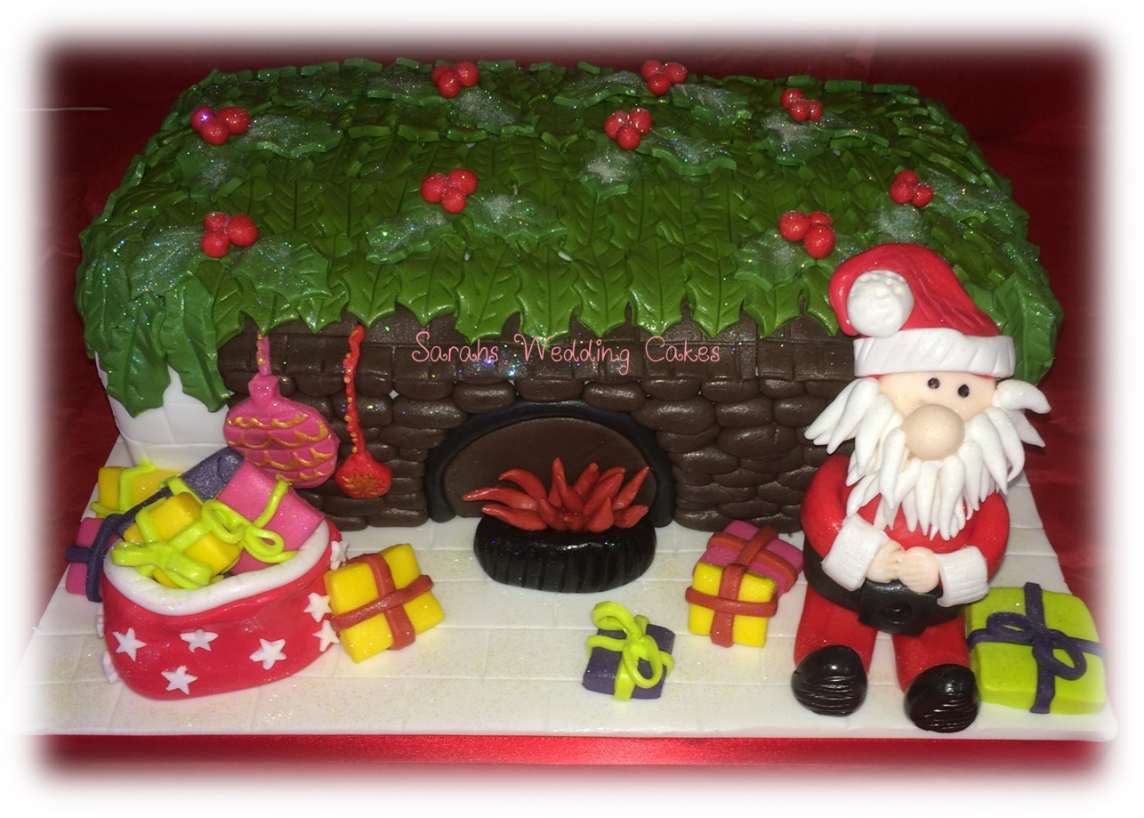 father christmas and parcels with glow.jpg